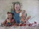 "Steinemann Girls, 18x24"", Oil on Linen"